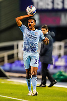 20th November 2020; St Andrews Stadium, Coventry, West Midlands, England; English Football League Championship Football, Coventry City v Birmingham City; Sam McCallum of Coventry City gets ready for a throw in