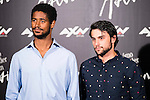 "British actor Alfred Enoch and American actor Jack Falahee during the presentation of the serie ""Como Defender a Un Asesino"" in Madrid. June 21, 2016. (ALTERPHOTOS/BorjaB.Hojas)"