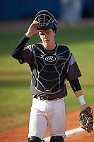 Union Dutchmen catcher Wiley Knight (18) during a game against the Farmingdale Rams on March 21, 2016 at Chain of Lakes Stadium in Winter Haven, Florida.  Farmingdale defeated Union 17-5.  (Mike Janes/Four Seam Images)