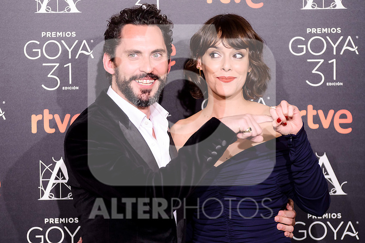 Paco Leon and Belen Cuesta attends to the 2017 Goya Awards Candidates Cocktail at Ritz Hotel in Madrid, Spain. January 12, 2017. (ALTERPHOTOS/BorjaB.Hojas)