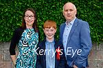 Sam Boyle with his parents Deirdre and Brian Boyle at his confirmation in St Brendan's Church Ballymac on Thursday.