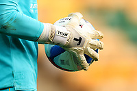 20th March 2021; Carrow Road, Norwich, Norfolk, England, English Football League Championship Football, Norwich versus Blackburn Rovers; The gloves worn by Thomas Kaminski of Blackburn Rovers