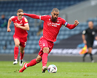 17th October 2020; Ewood Park, Blackburn, Lancashire, England; English Football League Championship Football, Blackburn Rovers versus Nottingham Forest ; Lewis Grabban of Nottingham Forest runs with the ball at his feet