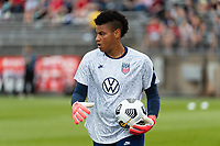 EAST HARTFORD, CT - JULY 1: Adrianna Franch #18 of the United States before a game between Mexico and USWNT at Rentschler Field on July 1, 2021 in East Hartford, Connecticut.