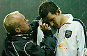 27/11/2004  Copyright Pic : James Stewart.File Name : jspa20_falkirk_v_ross_county.MARTIN CANNING IS TREATED FOR A HEAD INJURY JUST AS DANIEL MCBREEN SCORES FALKIRK'S EQUALISING FIRST GOAL.......Payments to :.James Stewart Photo Agency 19 Carronlea Drive, Falkirk. FK2 8DN      Vat Reg No. 607 6932 25.Office     : +44 (0)1324 570906     .Mobile   : +44 (0)7721 416997.Fax         : +44 (0)1324 570906.E-mail  :  jim@jspa.co.uk.If you require further information then contact Jim Stewart on any of the numbers above.........