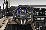 Car pictures of steering wheel view of a 2015 Subaru Legacy 2.5i Premium 4 Door Sedan Steering Wheel