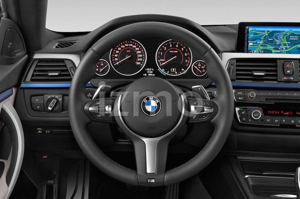 Car pictures of steering wheel view of a 2015 BMW SERIES 4 M Sport 2WD AT 5 Door Hatchback 2WD Steering Wheel