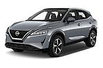 2022 Nissan Qashqai N-Connecta 5 Door SUV Angular Front automotive stock photos of front three quarter view