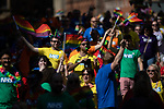 © Joel Goodman - 07973 332324 - all rights reserved . 24/08/2019. Manchester, UK. NHS float . The 2019 Manchester Gay Pride parade through the city centre , with a Space and Science Fiction theme . Manchester's Gay Pride festival , which is the largest of its type in Europe , celebrates LGBTQ+ life . Photo credit: Joel Goodman/LNP