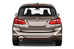 Straight rear view of a 2018 BMW bmw 2activetourluxmv1fb 5 Door Mini Van stock images
