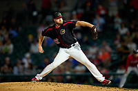 Rochester Red Wings pitcher Aaron Barrett (22) during a game against the Worcester Red Sox on September 4, 2021 at Frontier Field in Rochester, New York.  (Mike Janes/Four Seam Images)