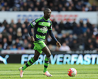 Modou Barrow of Swansea City during the Barclays Premier League match between Newcastle United and Swansea City played at St. James' Park, Newcastle upon Tyne, on the 16th April 2016