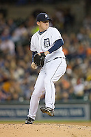 Detroit Tigers relief pitcher Zach Miner (31) in action versus the Los Angeles Angels at Comerica Park in Detroit, MI, Sunday, April 27, 2008.