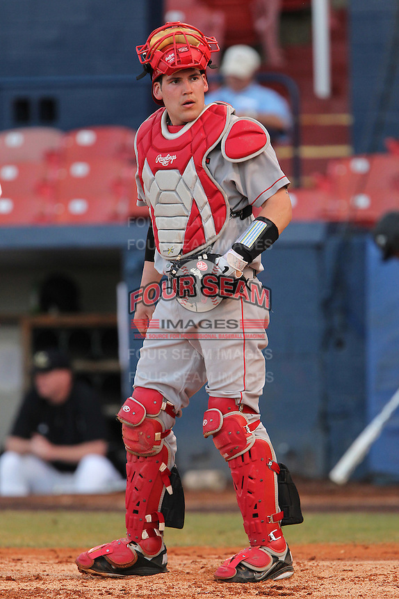 Illinois State Redbirds Mike Hollenbeck #51 during a game against the Western Michigan Broncos at Chain of Lakes Stadium on March 10, 2012 in Winter Haven, Florida.  Illinois State defeated Western Michigan 10-9.  (Mike Janes/Four Seam Images)