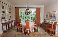 The dining room at 271 Blue Springs Lane Charlottesville, VA, United States. Photo/Andrew Shurtleff