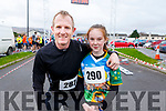 Liam and Sophie Hassett at the Kerins O'Rahillys GAA Club 10k/5k race at the clubhouse on Sunday.