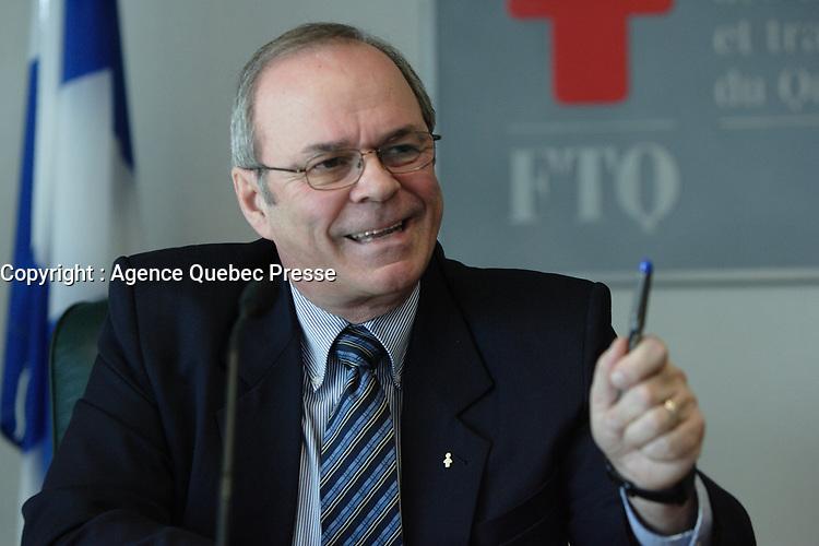 Jan  2012 - Montreal, Quebec,  CANADA - FTQ - Enjeux 2012 - Michel Arsenault