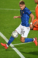 Ciro Immobile of Italy in action during the Uefa Nation A League Group 1 football match between Italy and Netherlands at Atleti azzurri d Italia Stadium in Bergamo (Italy), October, 14, 2020. Photo Andrea Staccioli / Insidefoto