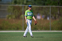 Nate Blasick during the WWBA World Championship at the Roger Dean Complex on October 20, 2018 in Jupiter, Florida.  Nate Blasick is a third baseman from Halifax, Pennsylvania who attends Halifax Area High School and is committed to West Virginia.  (Mike Janes/Four Seam Images)