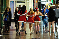 Saturday 21 December 2013<br /> Pictured: reetGirls on Cardiff's St.Mary's St<br /> Re: Black Friday Drinkers