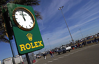 .The Rolex clock  in Daytona's infield ticks toward the final hour...