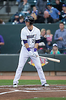 Louie Lechich (20) of the Winston-Salem Dash at bat against the Salem Red Sox at BB&T Ballpark on April 15, 2016 in Winston-Salem, North Carolina.  The Red Sox defeated the Dash 3-2.  (Brian Westerholt/Four Seam Images)
