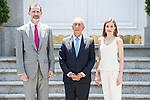 King Felipe VI of Spain and Queen Letizia of Spain receive Portuguese President Marcelo Rebelo de Sousa at Zarzuela Palace in Madrid, May 26, 2017. Spain.<br /> (ALTERPHOTOS/BorjaB.Hojas)
