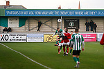 'Spartans do not ask 'How many are the enemy, but 'Where are they?' Quote on the terrace at Croft Park. Blyth Spartans v Brackley Town, 30112019. Croft Park, National League North. Photo by Paul Thompson.