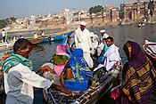 Pilgrims visit the ancient city of Varanasi in Uttar Pradesh, India. Photograph: Sanjit Das/Panos