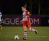 20140221 - OOSTAKKER , BELGIUM : Antwerp Marlies Verbruggen pictured during the soccer match between the women teams of AA Gent Ladies  and RAFC Antwerp Ladies , on the 19th matchday of the BeNeleague competition Friday 21 February 2014 in Oostakker. PHOTO DAVID CATRY