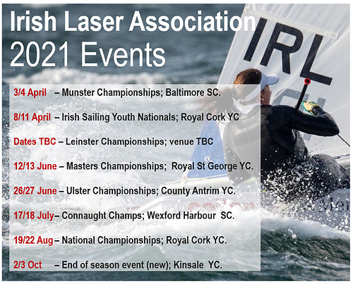 The 2021 Irish Laser Dinghy calendar
