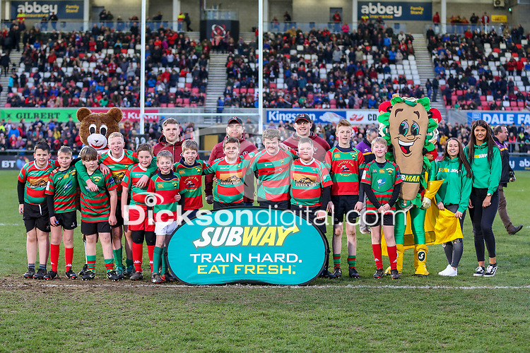 Saturday 23rd March 2019 | Ulster Rugby vs Kings<br /> <br /> Halftime Mini-Rugby during the Guinness PRO14 clash between Ulster Rugby and the Southern Kings at Kingspan Stadium, Ravenhill Park, Belfast, Northern Ireland. Photo by John Dickson / DICKSONDIGITAL