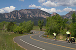 Stand up bike on mountain road in Boulder, Colorado .  John leads private photo tours in Boulder and throughout Colorado. Year-round.
