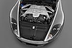 High angle engine detail of a 2007 - 2012 Aston Martin DBS Volante Convertible.