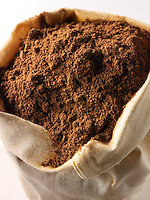 Ground Alspice powder - stock photos