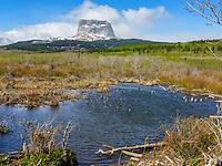 Sacred Chief Mountain on the Blackfeet Reservation