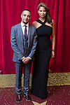 © Licensed to London News Pictures . 16/05/2015 .  The Palace Hotel , Manchester , UK . Ashley Rice and Laura Rollins . The red carpet at the 2015 British Soap Awards , The Palace Hotel , Oxford Road , Manchester . Photo credit : Joel Goodman/LNP