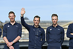 Philippe Gilbert (BEL) Quick-Step Floors team on stage at the team presentation before the 116th edition of Paris-Roubaix 2018. 7th April 2018.<br /> Picture: ASO/Pauline Ballet | Cyclefile<br /> <br /> <br /> All photos usage must carry mandatory copyright credit (© Cyclefile | ASO/Pauline Ballet)