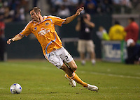 Houstons Nate Jaqua. The Houston Dynamo and Chivas USA played to a 1-1 tie at Home Depot Center stadium in Carson, California on Saturday October 25, 2008. Photo by Michael Janosz/isiphotos.com
