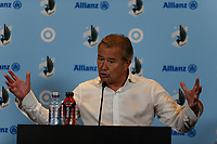ST PAUL, MN - JULY 18: Adrian Heath during the post game press conference after a game between Seattle Sounders FC and Minnesota United FC at Allianz Field on July 18, 2021 in St Paul, Minnesota.