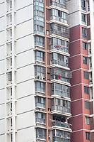 Suzhou, Jiangsu, China.  Modern Apartment Building.