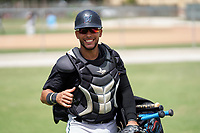Miami Marlins catcher David Martinez (51) during a Minor League Spring Training camp day on April 27, 2021 at Roger Dean Chevrolet Stadium Complex in Jupiter, Fla.  (Mike Janes/Four Seam Images)
