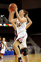 LOS ANGELES, CA - MARCH 12:  Ashley Cimino during Stanford's 72-52 win over Arizona in the Pac-10 Tournament at the Staples Center on March 12, 2010 in Los Angeles, California.