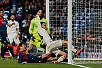 Real Madrid's Dani Ceballos scores goal during La Liga match between Real Madrid and SD Huesca at Santiago Bernabeu Stadium in Madrid, Spain. March 31, 2019. (ALTERPHOTOS/A. Perez Meca)