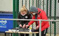 DJ's of Zulte Waregem pictured before a female soccer game between SV Zulte - Waregem and KRC Genk on the 8 th matchday of the 2020 - 2021 season of Belgian Scooore Women s SuperLeague , saturday 21 th of November 2020  in Zulte , Belgium . PHOTO SPORTPIX.BE   SPP   DIRK VUYLSTEKE