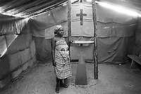 - Mozambique, inside of a Catholic Christian church in the fishermen village of Beira....- Mozambico, interno di una chiesa cristiana cattolica nel villaggio dei pescatori di Beira