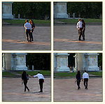 Man and woman at Arco della Pace, Milano, Italy .  John offers private photo tours in Denver, Boulder and throughout Colorado, USA.  Year-round. .  John offers private photo tours in Denver, Boulder and throughout Colorado. Year-round.