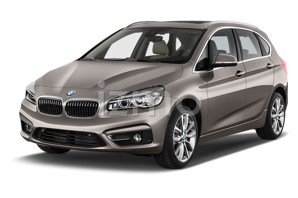2015 BMW 2 Series 5 Door Mini MPV 2WD Angular Front stock photos of front three quarter view