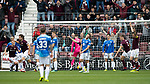 St Johnstone v Hearts…29.09.18…   Tynecastle     SPFL<br />Peter Haring celebrates hios goal<br />Picture by Graeme Hart. <br />Copyright Perthshire Picture Agency<br />Tel: 01738 623350  Mobile: 07990 594431