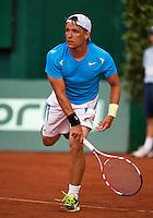 11-07-13, Netherlands, Scheveningen,  Mets, Tennis, Sport1 Open, day four, Ivan Sergeyev (UKR)<br /> <br /> <br /> Photo: Henk Koster